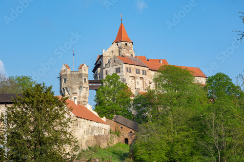 Pernstejn Castle is located in Moravia, Czech Republic, 25 km north-west of Brno.
