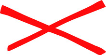 Red Horizontal Cross Mark