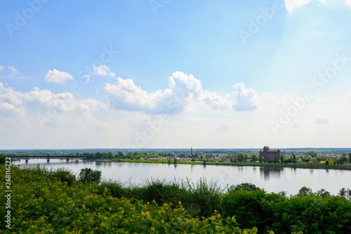 Valokuva  View of the Vistula River seen from the enbankment promenade in Plock city, Pola