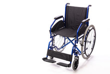 Wheelchair For The Disabled On A White Background