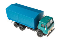 Toy Truck On White