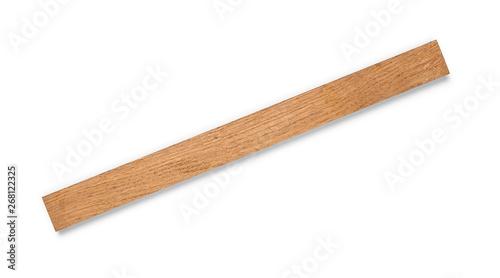 Oak board on an isolated white background Fotobehang
