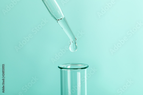Photo  Drop the pipette into the test tube