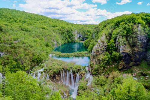 Fototapety, obrazy: Plitvice lakes in Croatia