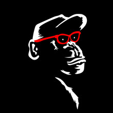 Monkey In Red Glasses