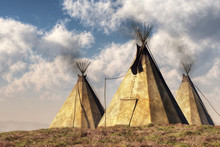 Three Teepees (also Called Tip...