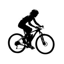 Woman Riding Mountain Bike, Mt...