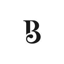B Logo Design Template