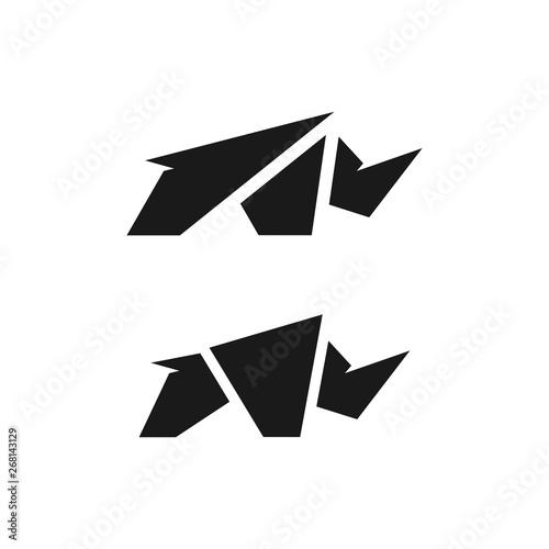 Cuadros en Lienzo Rhino Logo Design Template