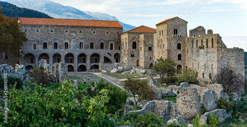 Valokuva  Part of the byzantine archaeological site of Mystras in Peloponnese, Greece