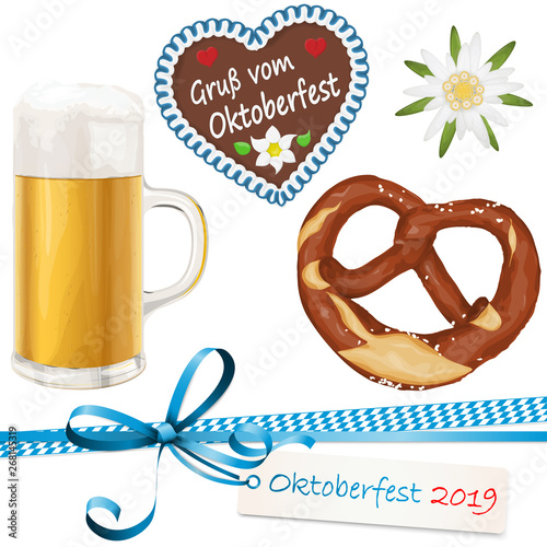 Fototapeta collection Oktoberfest objects 2019