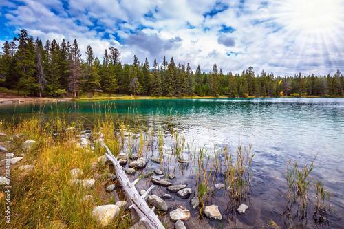 Foto  Picturesque circular lake