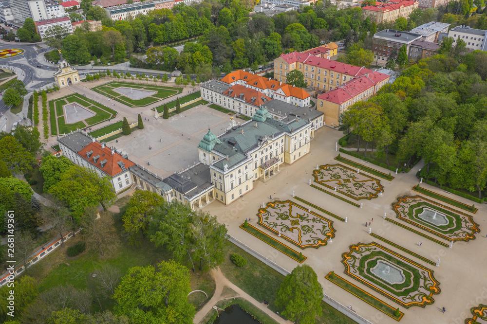 Fototapety, obrazy: Widok z lotu ptaka na Pałac Branickich w Białymstoku