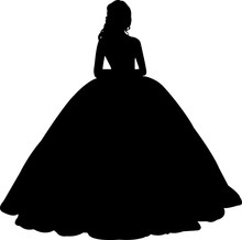 Princess Silhouette Vector
