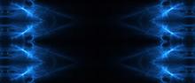 Blue Circular Wave Glow. Kalei...