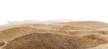 Pile Desert Sand Dune Isolated...