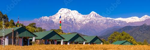 Photo  Annapurna mountain Panoramic view from Australian base camp Nepal
