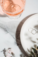 Pink Champagne And Silver Wedding Bands