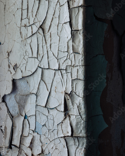 Foto auf Leinwand Texturen Old wall of the destroyed building in Chernobyl, war, texture, wallpaper