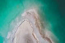 Aerial Shot Of Salt Formation ...