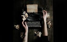 Typing On An Vintage Typewriter