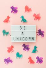 Light Box Saying Be A Unicorn ...