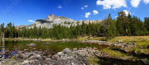 Hiking Mt Dana in the High Sierra Mountains in Yosemite National Park in California #268195107