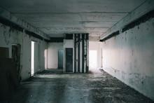 Dark Abandoned Building Room