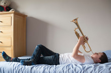 Boy With Trumpet Musical Instr...