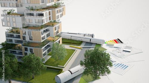 Fotografija Sustainable building mock up
