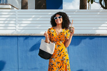 Fashion Woman In Summer.