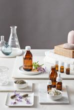 Pure Essential Oils In Bottles.