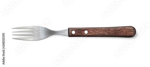 fork with wooden handle Fototapeta