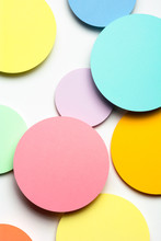 Yellow Paper Material Design Circles