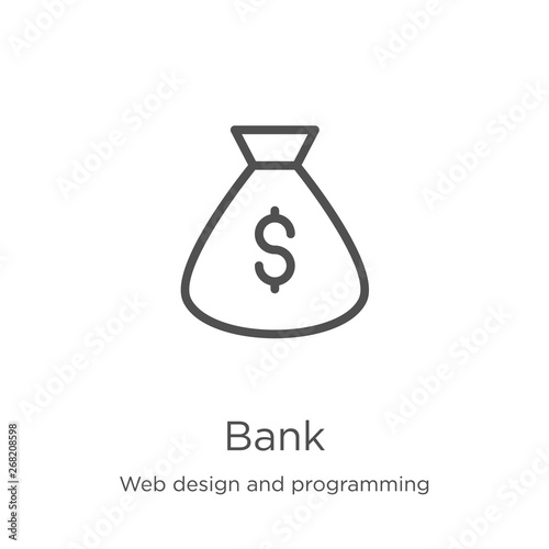 Design Bank Twist.Bank Icon Vector From Web Design And Programming Collection Thin