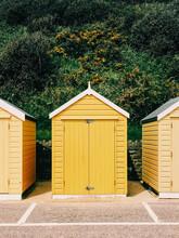 Bright Yellow Beach Huts