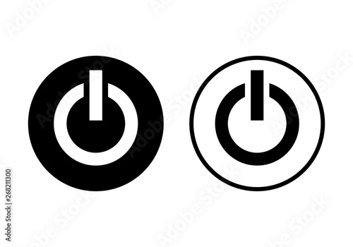 Fényképezés  Power icon. Power Switch Icon. Start power icon