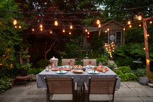 Patio Evening Dinner Party Wit...