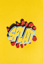 Illustration Of 'Splat' Comic Book Text