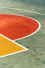 Detail Of Basket Court Lines