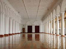 Empty Spacious Ballroom With S...