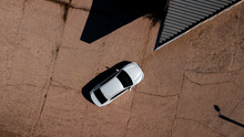 Aerial View Of A Brand New Car...