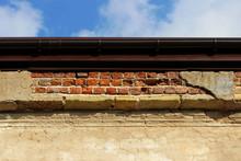 Beige Brick Old Evenly Plaster...