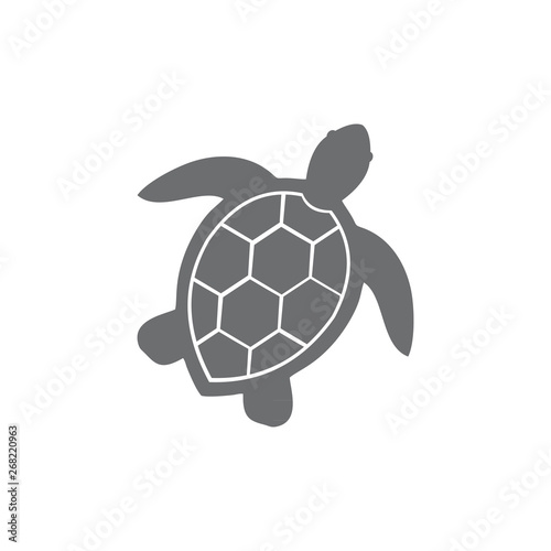 Poster Tortue illustration of sea turtle icon