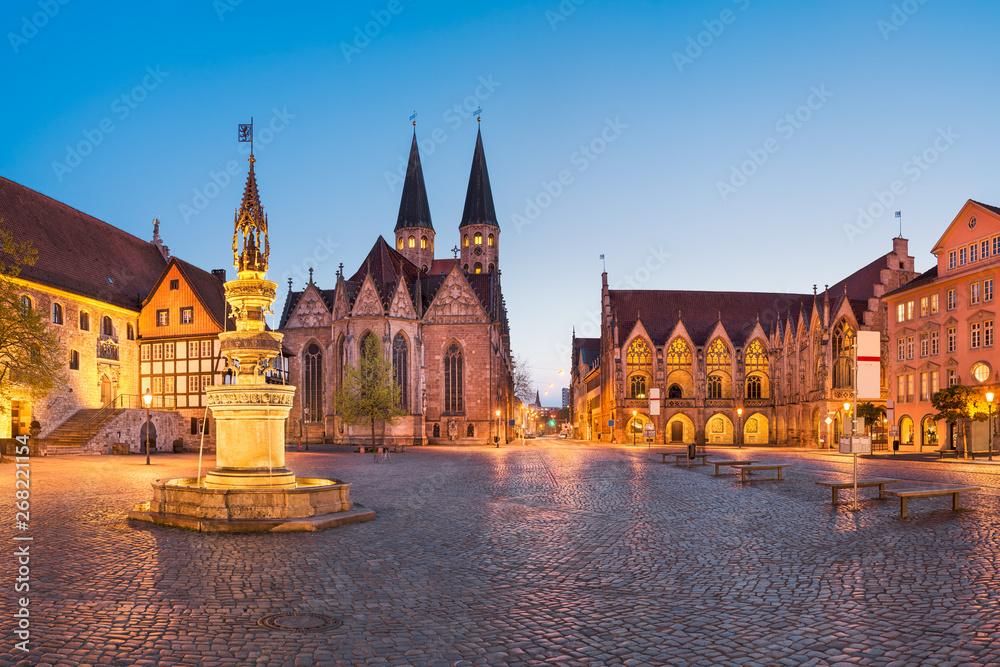 Fototapety, obrazy: Market square in Brunswick (Braunschweig), Germany