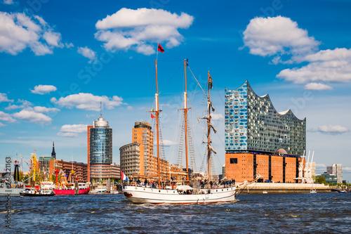 Fotomural  Port of Hamburg, Germany