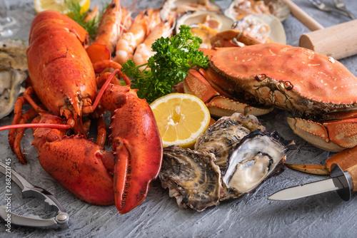 Photo  assorted crustacean image