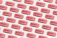 Pattern Of Individual Red Ticket Stubs