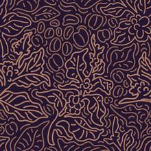 Vector Seamless Pattern. Art Line Of Coffee Tree