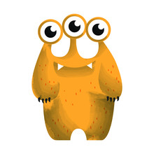 Cute Crazy Monster Character